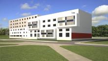Общежитие гостиничного типа на 100 мест. Совместно с Учебно-лабораторным корпусом на 200 мест